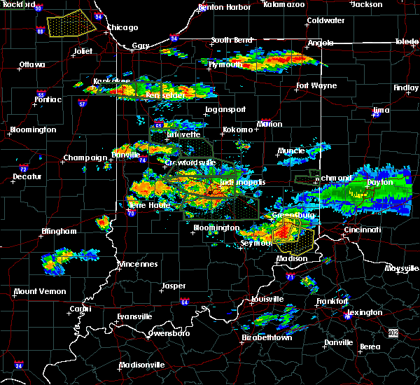 Radar Image for Severe Thunderstorms near Versailles, IN at 7/17/2015 6:43 PM EDT