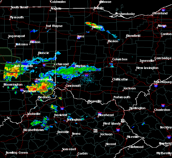 Radar Image for Severe Thunderstorms near Lawrenceburg, IN at 7/17/2015 6:58 PM EDT