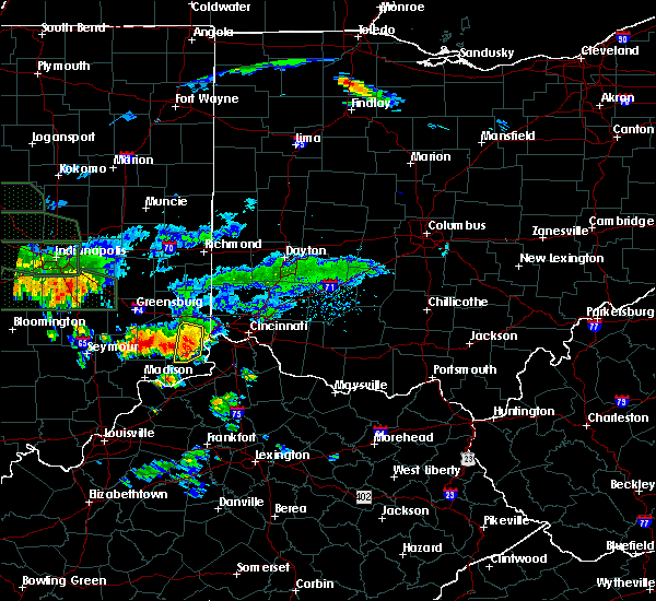 Radar Image for Severe Thunderstorms near Lawrenceburg, IN at 7/17/2015 7:13 PM EDT