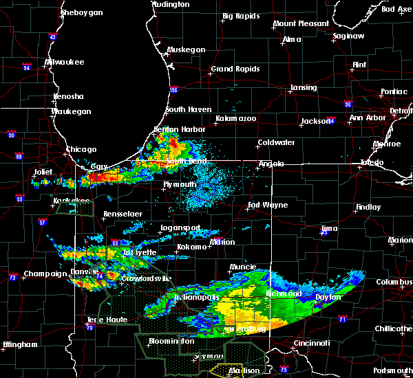 Radar Image for Severe Thunderstorms near Dowagiac, MI at 7/17/2015 9:43 PM EDT