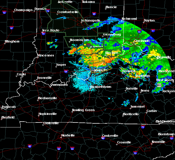Radar Image for Severe Thunderstorms near Utica, KY at 7/17/2015 10:26 PM EDT