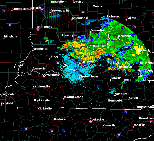 Radar Image for Severe Thunderstorms near Westport, KY at 7/17/2015 10:40 PM EDT