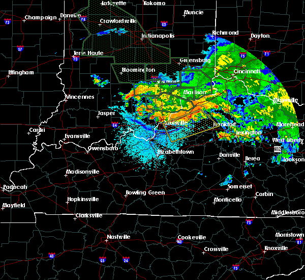 Radar Image for Severe Thunderstorms near Frankfort, KY at 7/17/2015 10:49 PM EDT