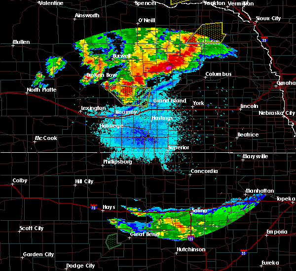 Radar Image for Severe Thunderstorms near Alda, NE at 7/17/2015 10:15 PM CDT