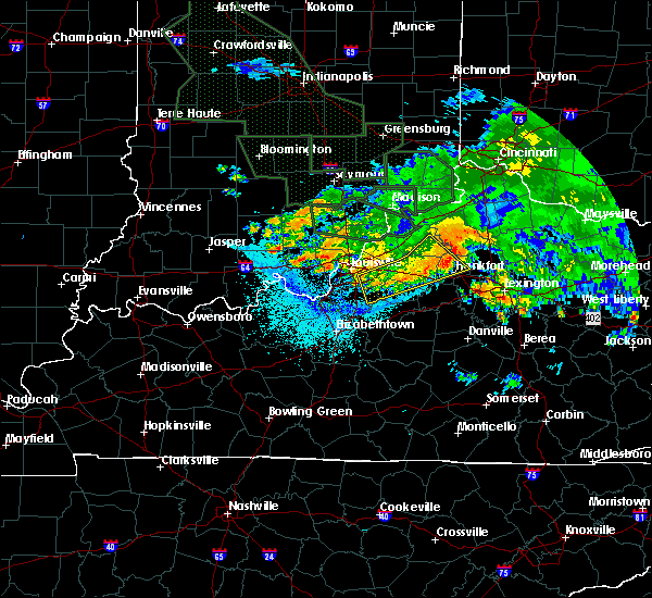 Radar Image for Severe Thunderstorms near Frankfort, KY at 7/17/2015 11:18 PM EDT