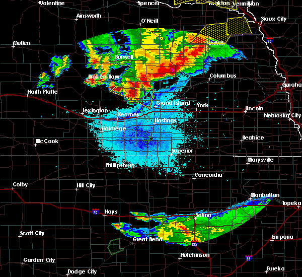 Radar Image for Severe Thunderstorms near Rockville, NE at 7/17/2015 10:25 PM CDT