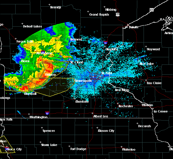 Radar Image for Severe Thunderstorms near Wabasso, MN at 7/17/2015 11:06 PM CDT