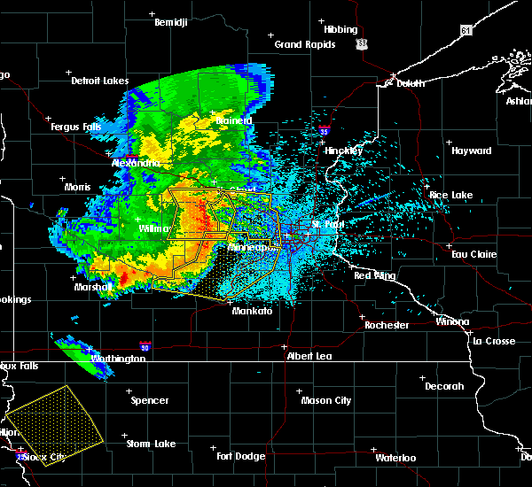 Radar Image for Severe Thunderstorms near St. Francis, MN at 7/17/2015 11:55 PM CDT
