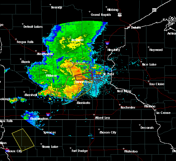Radar Image for Severe Thunderstorms near Orono, MN at 7/18/2015 12:16 AM CDT