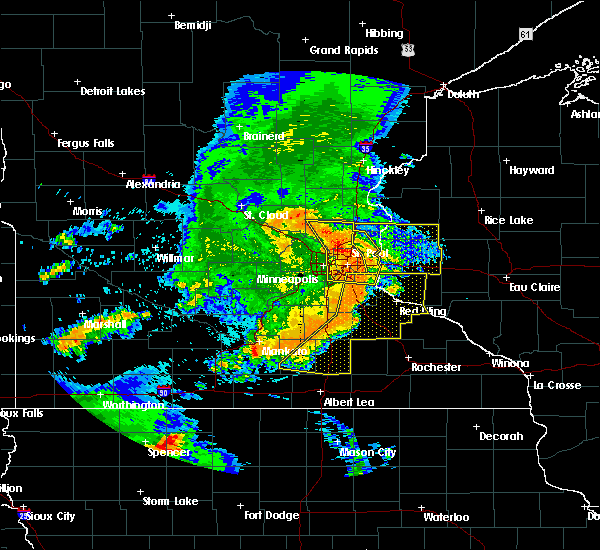 Radar Image for Severe Thunderstorms near St. Marys Point, MN at 7/18/2015 1:09 AM CDT