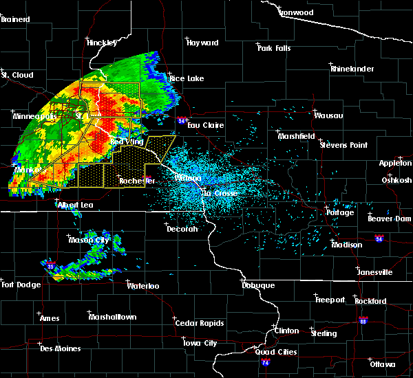 Radar Image for Severe Thunderstorms near Elgin, MN at 7/18/2015 1:27 AM CDT