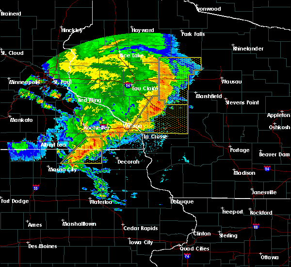 Radar Image for Severe Thunderstorms near Fountain, MN at 7/18/2015 3:12 AM CDT