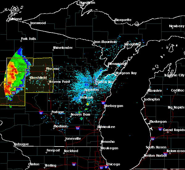Radar Image for Severe Thunderstorms near Mosinee, WI at 7/18/2015 3:15 AM CDT
