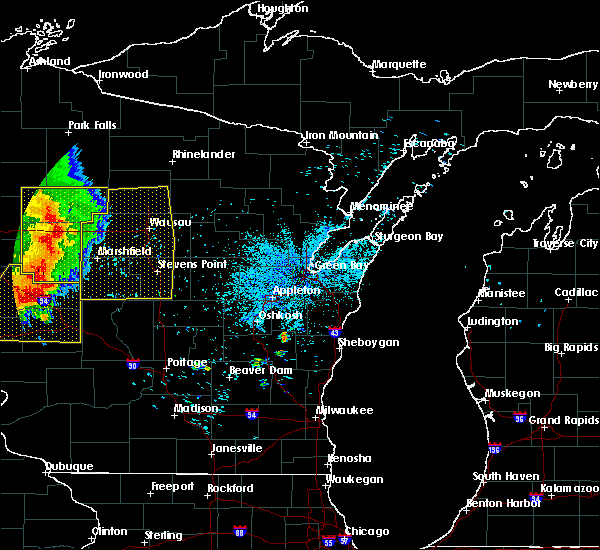 Radar Image for Severe Thunderstorms near Mosinee, WI at 7/18/2015 3:25 AM CDT