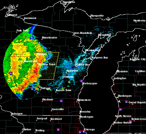 Radar Image for Severe Thunderstorms near Wisconsin Rapids, WI at 7/18/2015 4:36 AM CDT