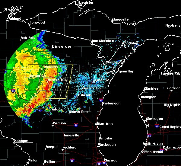 Radar Image for Severe Thunderstorms near Mosinee, WI at 7/18/2015 4:43 AM CDT