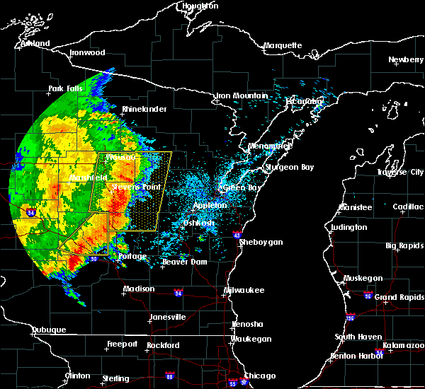Radar Image for Severe Thunderstorms near King, WI at 7/18/2015 4:48 AM CDT