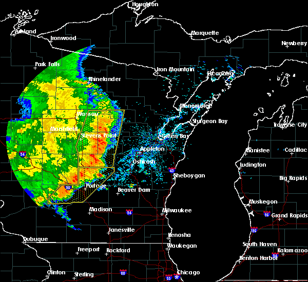 Radar Image for Severe Thunderstorms near Waupaca, WI at 7/18/2015 5:04 AM CDT
