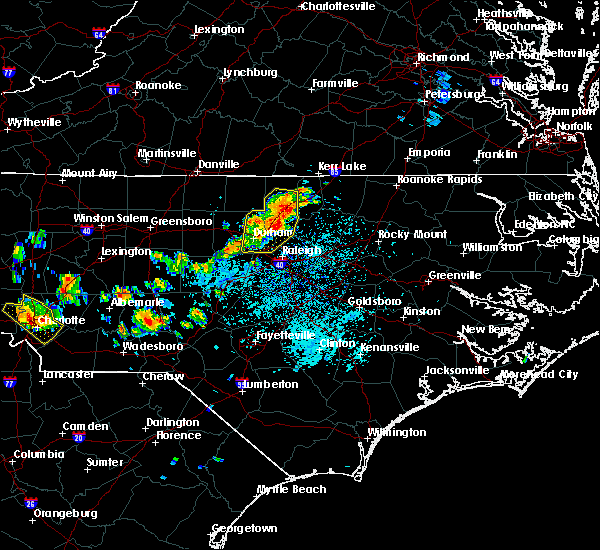 Radar Image for Severe Thunderstorms near Durham, NC at 7/18/2015 2:05 PM EDT