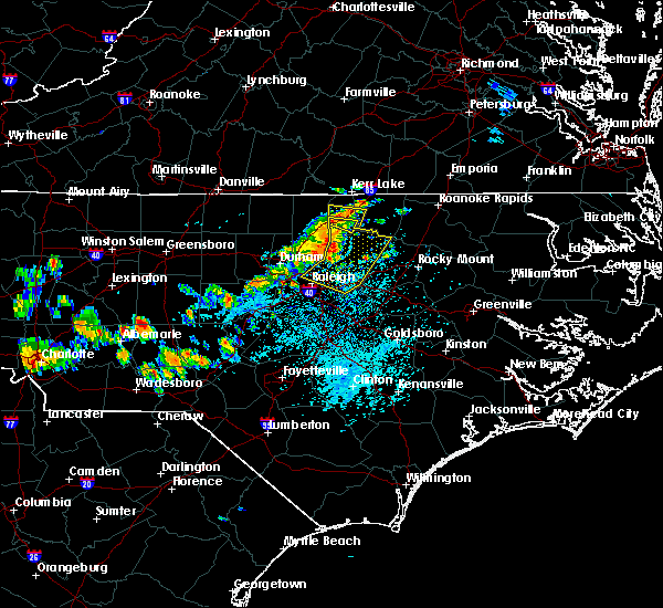 Radar Image for Severe Thunderstorms near Louisburg, NC at 7/18/2015 2:37 PM EDT