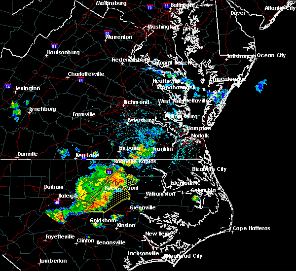 Radar Image for Severe Thunderstorms near Halifax, NC at 7/18/2015 3:58 PM EDT
