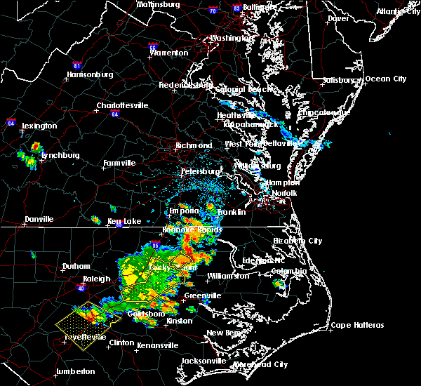 Radar Image for Severe Thunderstorms near Scotland Neck, NC at 7/18/2015 4:26 PM EDT