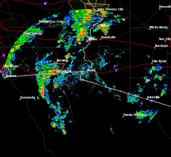 Radar Image for Severe Thunderstorms near Holtville, CA at 7/18/2015 1:46 PM PDT