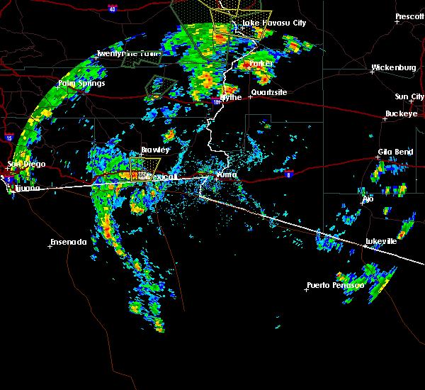 Radar Image for Severe Thunderstorms near Holtville, CA at 7/18/2015 1:56 PM PDT