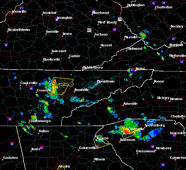Radar Image for Severe Thunderstorms near Andersonville, TN at 7/18/2015 5:04 PM EDT
