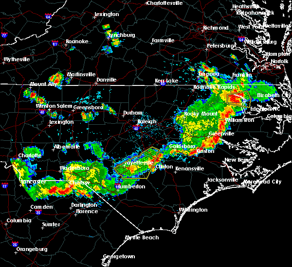 Radar Image for Severe Thunderstorms near Hope Mills, NC at 7/18/2015 5:12 PM EDT