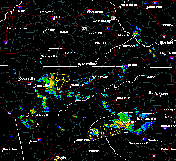 Radar Image for Severe Thunderstorms near Coalfield, TN at 7/18/2015 5:12 PM EDT