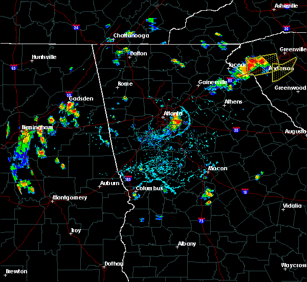 Radar Image for Severe Thunderstorms near Conyers, GA at 7/18/2015 5:36 PM EDT