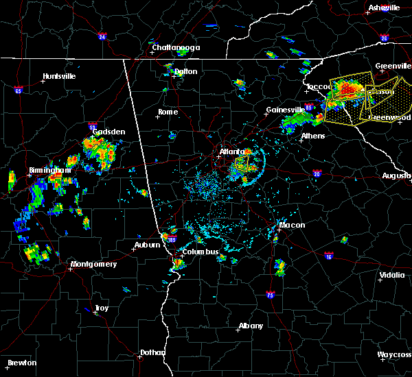 Radar Image for Severe Thunderstorms near Conyers, GA at 7/18/2015 5:54 PM EDT