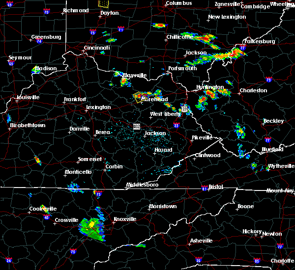 Radar Image for Severe Thunderstorms near Morehead, KY at 7/18/2015 6:09 PM EDT