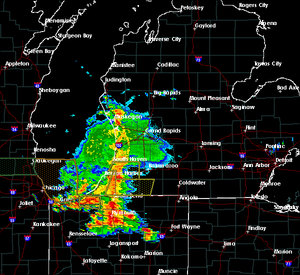Radar Image for Severe Thunderstorms near Lawton, MI at 7/18/2015 6:43 PM EDT