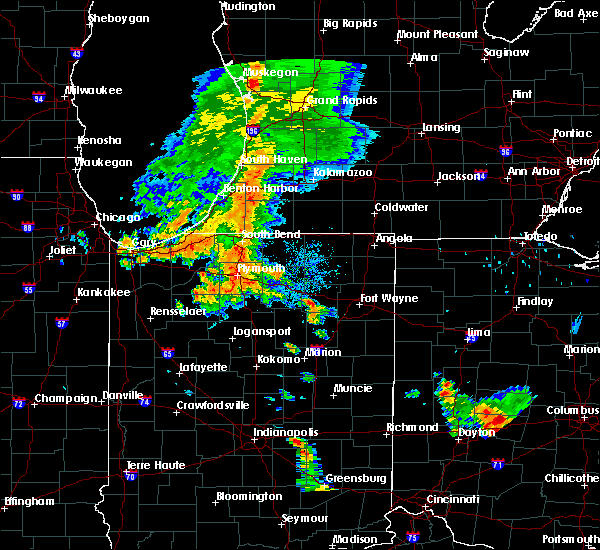 Radar Image for Severe Thunderstorms near Nappanee, IN at 7/18/2015 6:46 PM EDT