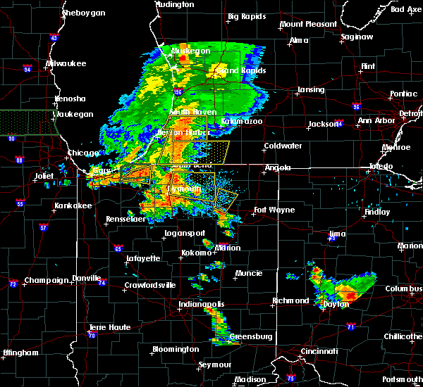 Radar Image for Severe Thunderstorms near Tri-Lakes, IN at 7/18/2015 6:50 PM EDT