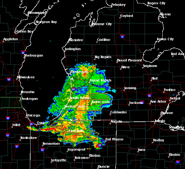 Radar Image for Severe Thunderstorms near Dowling, MI at 7/18/2015 7:10 PM EDT