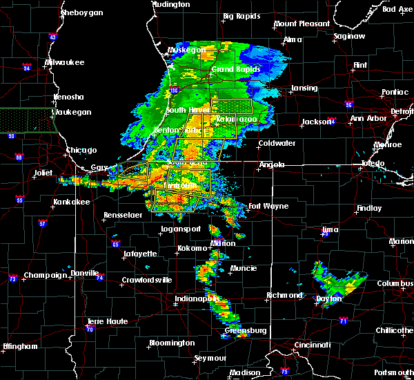 Radar Image for Severe Thunderstorms near Shipshewana, IN at 7/18/2015 7:19 PM EDT