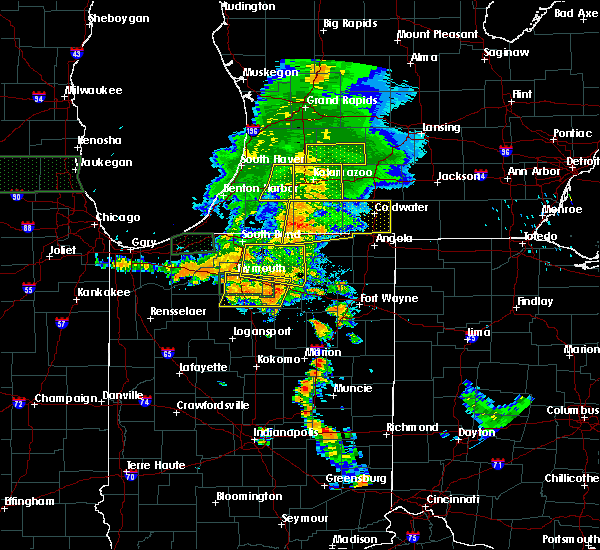 Radar Image for Severe Thunderstorms near Tri-Lakes, IN at 7/18/2015 7:25 PM EDT