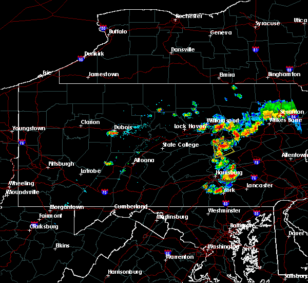 Radar Image for Severe Thunderstorms near Hummels Wharf, PA at 7/18/2015 7:26 PM EDT