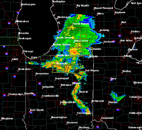 Radar Image for Severe Thunderstorms near Colon, MI at 7/18/2015 7:36 PM EDT