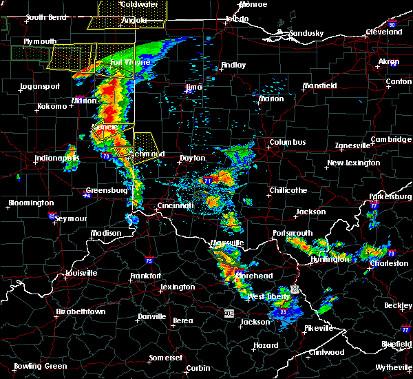 Radar Image for Severe Thunderstorms near Whitewater, IN at 7/18/2015 8:17 PM EDT