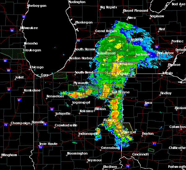 Radar Image for Severe Thunderstorms near Holiday City, OH at 7/18/2015 8:23 PM EDT