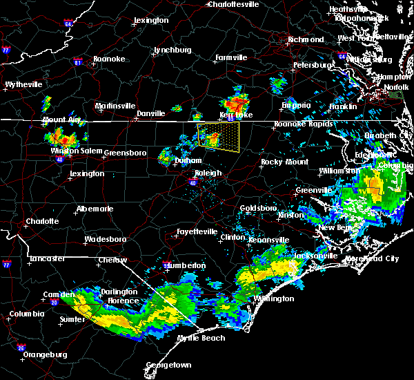 Radar Image for Severe Thunderstorms near Warrenton, NC at 7/18/2015 8:31 PM EDT