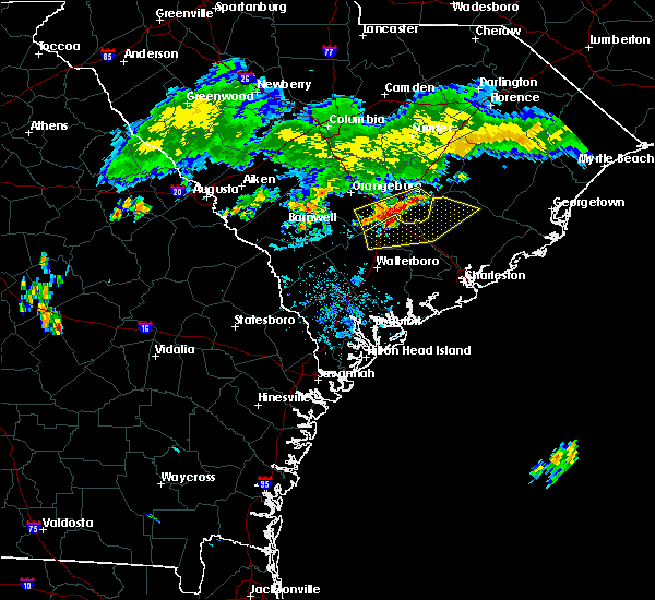 Radar Image for Severe Thunderstorms near Bonneau, SC at 7/18/2015 8:41 PM EDT