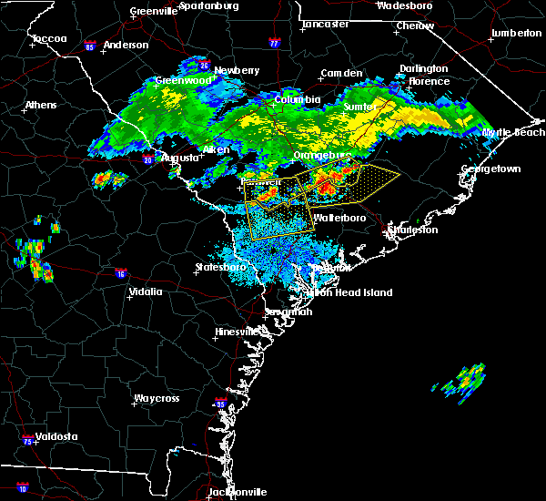 Radar Image for Severe Thunderstorms near Lodge, SC at 7/18/2015 8:54 PM EDT