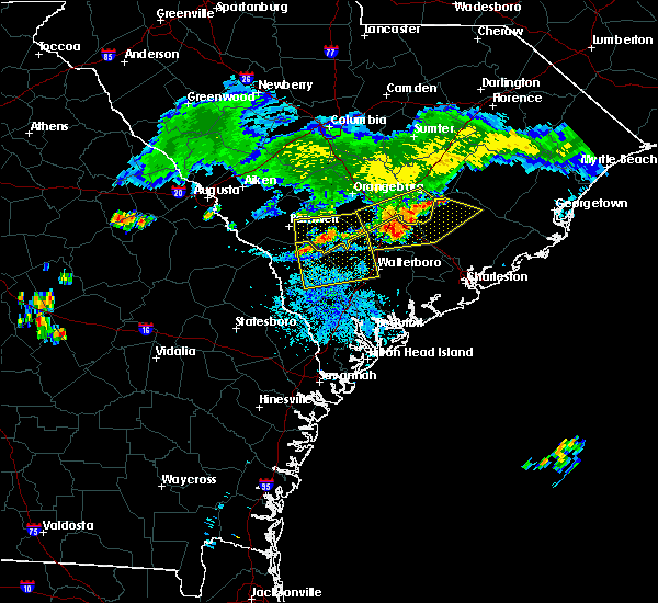 Radar Image for Severe Thunderstorms near Bonneau, SC at 7/18/2015 9:04 PM EDT