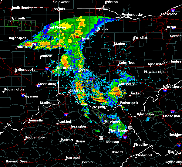 Radar Image for Severe Thunderstorms near South Lebanon, OH at 7/18/2015 9:43 PM EDT