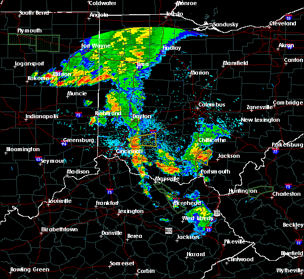 Radar Image for Severe Thunderstorms near Piketon, OH at 7/18/2015 9:49 PM EDT